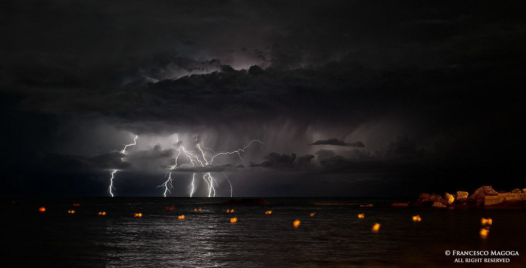 Offshore lightning storm wide vision [Explore] | Follow me o… | Flickr