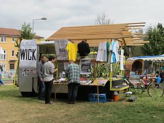 Wick Curiosity Book Shop at Hackney Wick Festival 2012