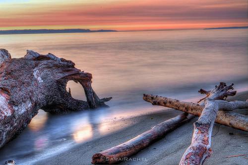 sunset red seascape boats evening washington twilight nikon