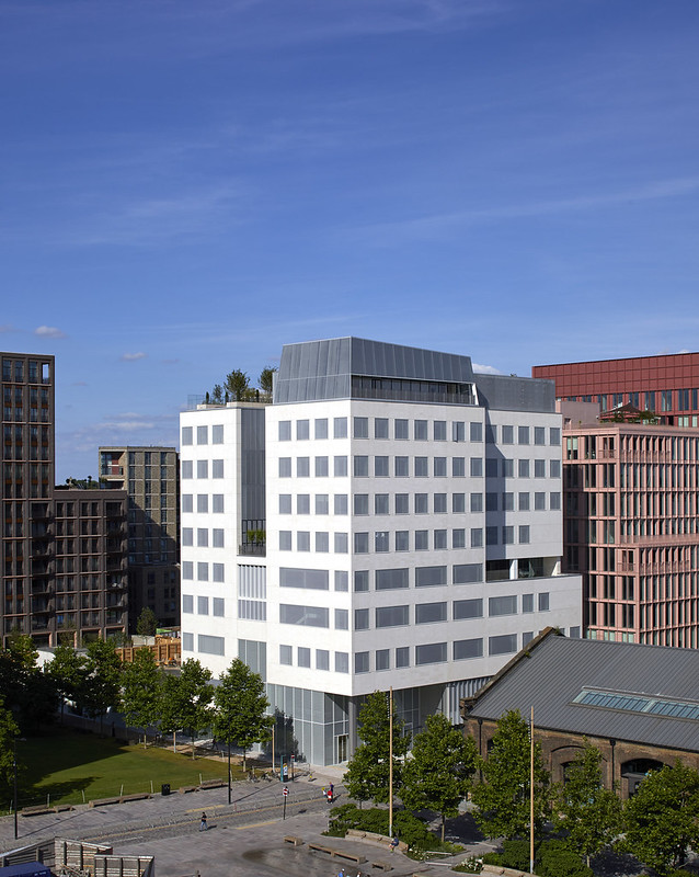 View of the Aga Khan Centre from Lewis Cubitt Square