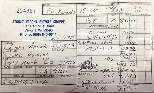 bike-original-receipt | by OnTask