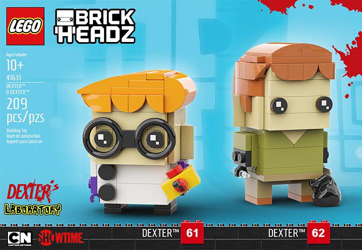 Dexter duo pack LEGO MOC
