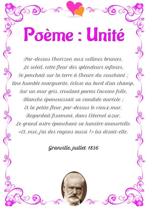 Unité Poème De Victor Hugo Poésie Damour En Savoir Plus