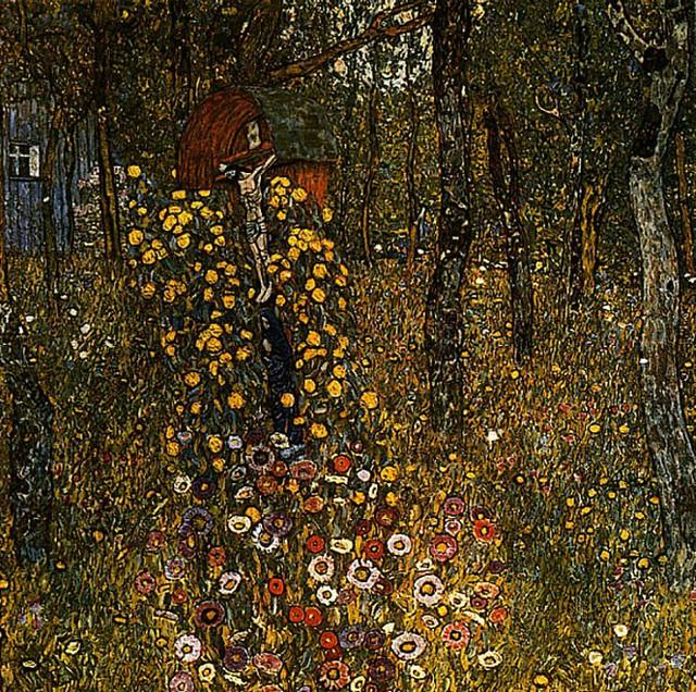 Дачний сад із розп'яттям, 1911
