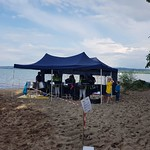 Am Strand am 21. Juli 2018 in Salavaux
