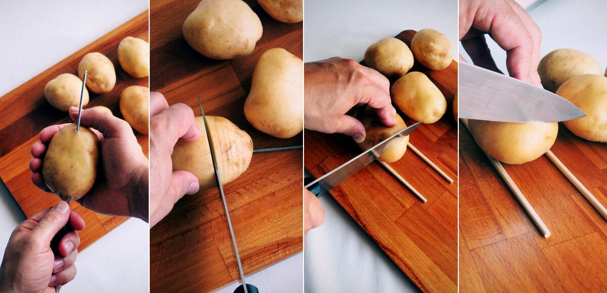 corte de la patata