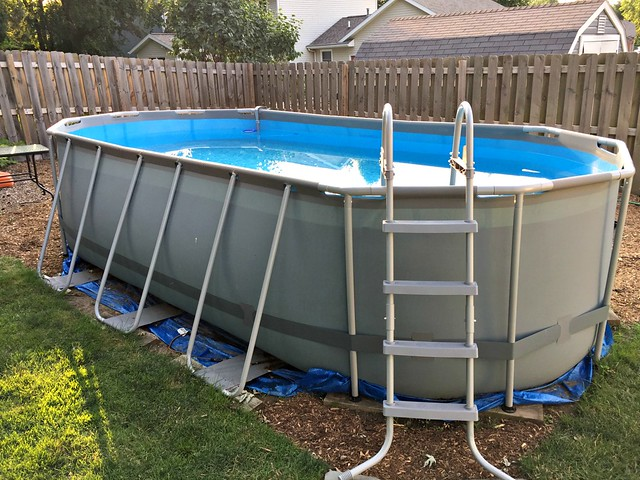 our above ground bestway pool from costco