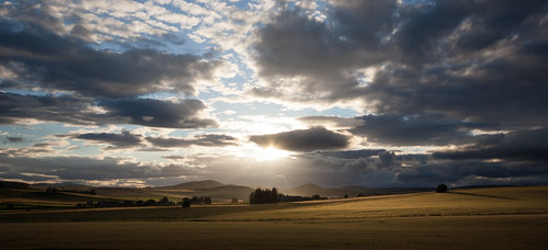 sunset scotland aberdeenshire alba o buck insch garioch dunnideer cabrach
