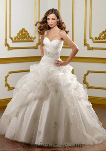 sweetheart-empire-waist-bubble-ball-gown-wedding-dress | by Ifashiondress