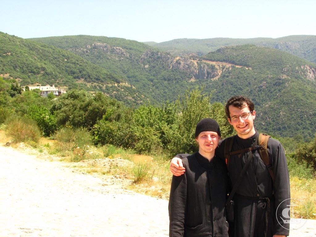 На пути из Ксиропотам в Пантелеимонов монастырь