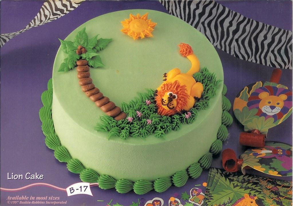 Wondrous B 17 Lion Cake Baskin Robbins Centennial Hills Flickr Birthday Cards Printable Giouspongecafe Filternl
