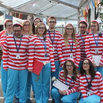 Where's Wally? | The Book Festival front of house staff ready and waiting to welcome the audience on RBS Schools Gala Day