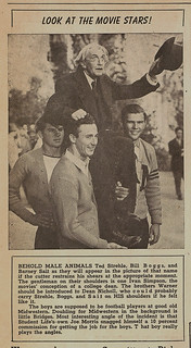 "TSL story about filming ""The Male Animal"" on campus in 1940"