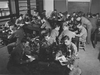 Soldiers in a pre-meteorology class in 1943