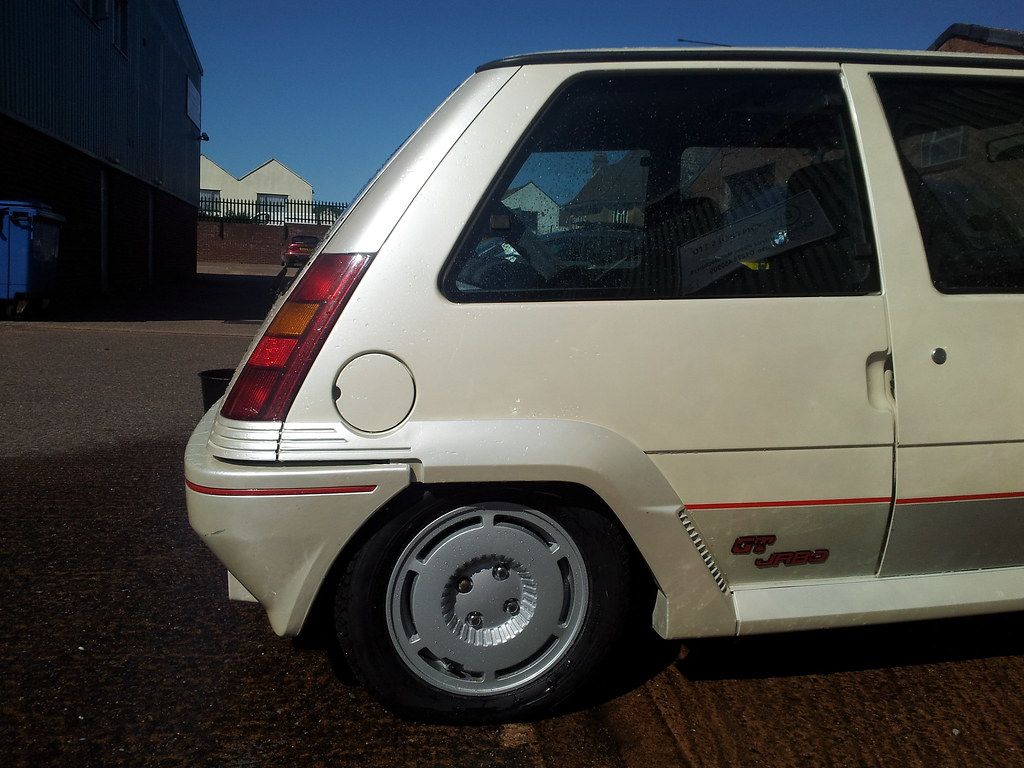 Renault 5 Gt Turbo Pearl White Phase 1 Ph1 Rear Wheel Flickr