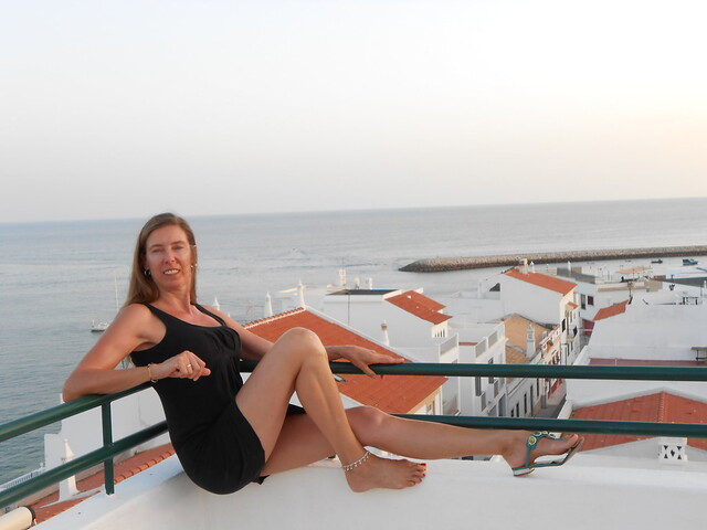 Sunset on the roof o Dianamar in Albufeira