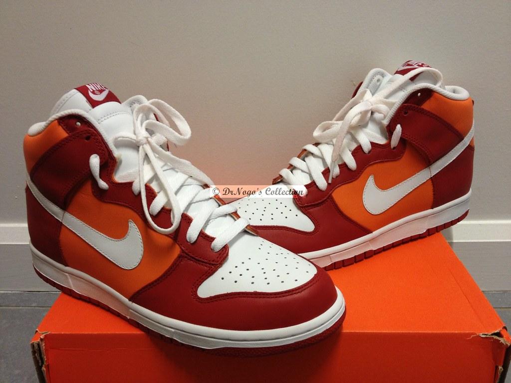 huge selection of ab11b 12bbf Nike Dunk High (Varsity Red/White-Orange Blaze) | Style Code ...