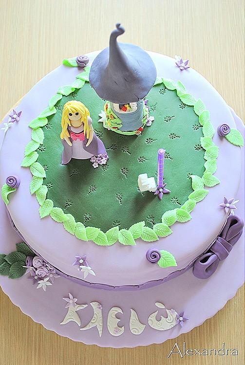 Groovy Rapunzel Birthday Cake Miaforakienacake Blogspot Gr Flickr Birthday Cards Printable Inklcafe Filternl