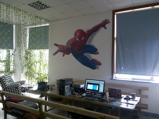 3D wall sticker, spider-man | by 3D floor sticker - YeJun