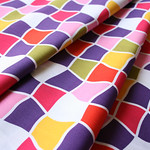 Fabric Finders #1230 Distorted Square Purple Gold