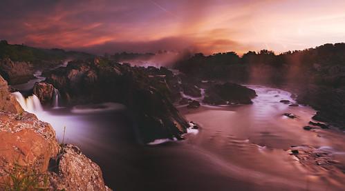 sky color nature beauty clouds sunrise 35mm river nikon greatfalls falls waterfalls potomac serene nationalparks potomacriver landsape greatfallsnationalpark d700 35mmf14g