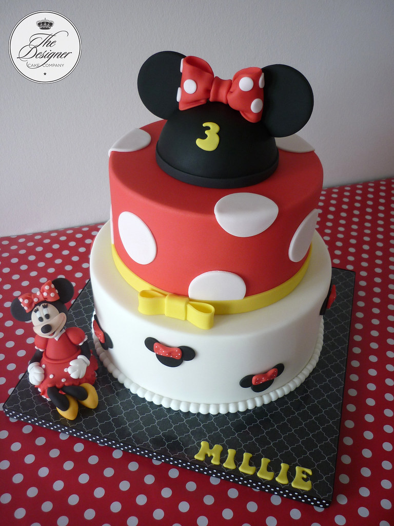 Strange Minnie Mouse Birthday Cake This Is Not My Design But Im N Flickr Personalised Birthday Cards Veneteletsinfo
