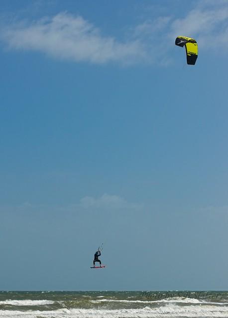 Kite surfers at Henley beach