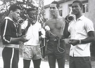 World Cup 1958 Brazilian Team holding Ericofon's | by Ericsson Images
