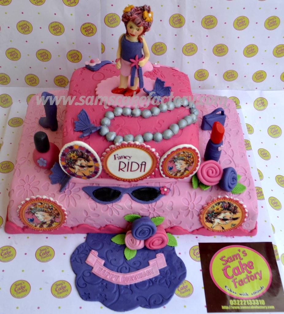 Miraculous Fancy Nancy Cake Birthday Cake Made In Karachi Pakistan F Flickr Funny Birthday Cards Online Overcheapnameinfo