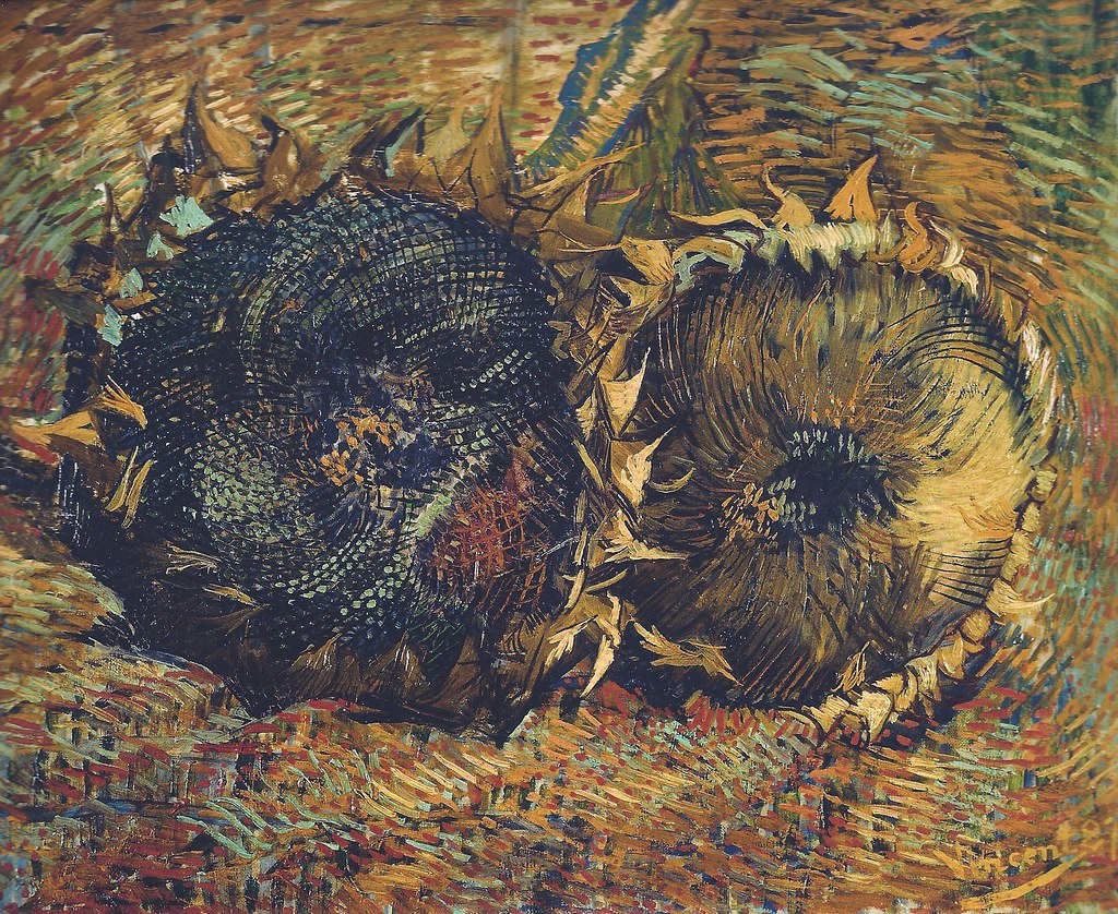 Vincent van Gogh - Sunflowers, 1887 (Kunstmuseum Bern Switzerland) Van Gogh: Up Close at Philadelphia Museum of Art