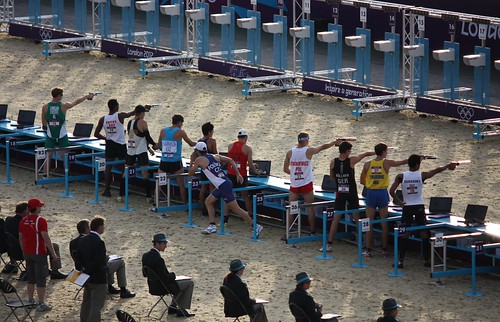 Shooting at the London 2012 Olympics Modern Pentathlon | by Sum_of_Marc