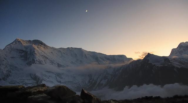 Crescent at Sunset, Annapurna range