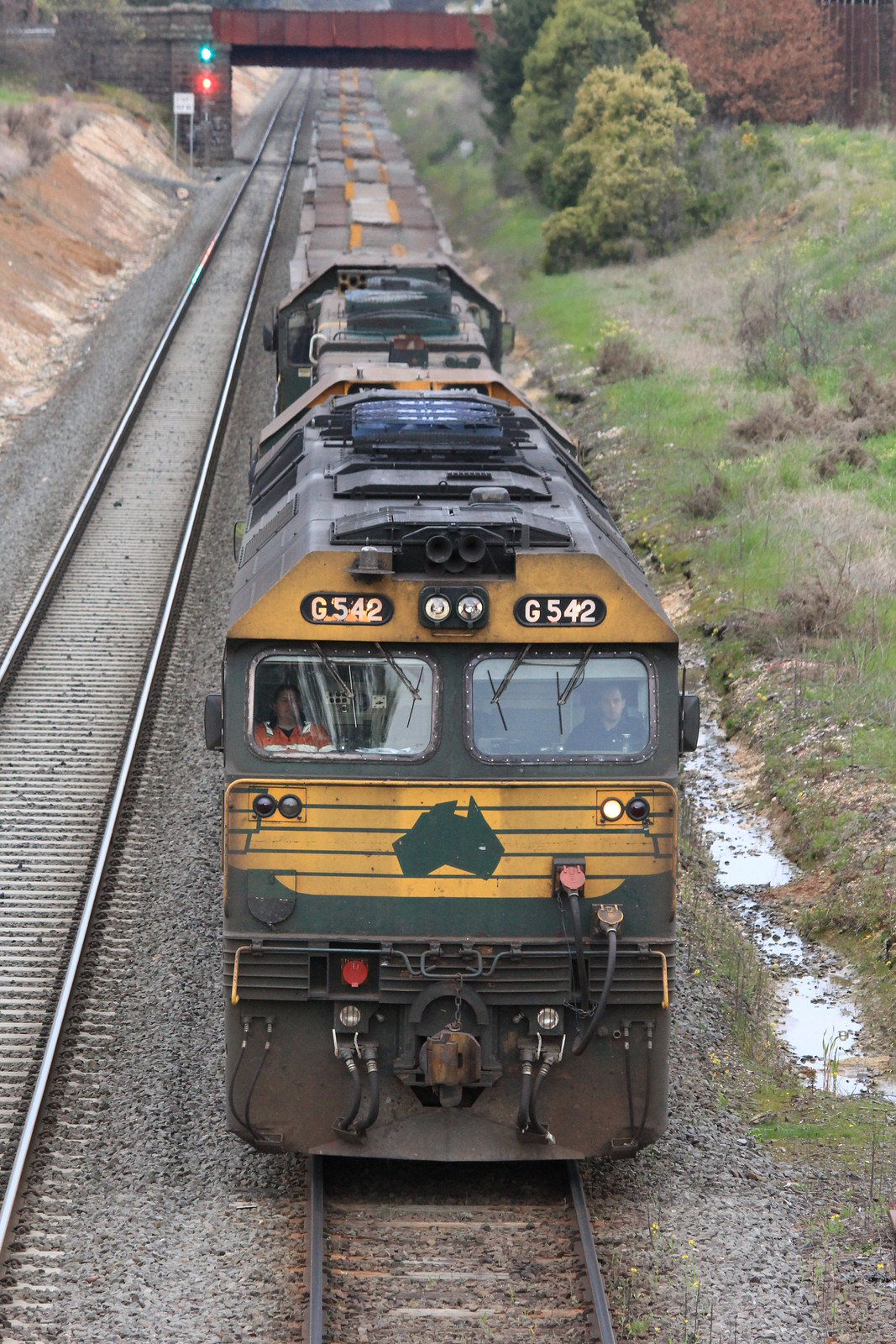 G542 leads X43 and X44 as it waits at Ballarat East to proceed North by bukk05