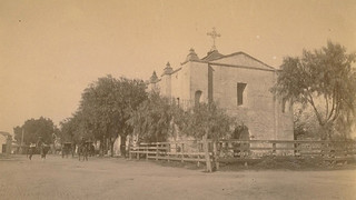 Mission San Gabriel in the late 1800s