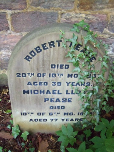 Quaker Burial Ground, Darlington - Robert Pease and Michael Lloyd Pease   by Bolckow