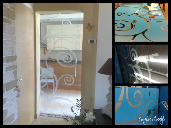Glasstyle venezia mestre treviso porte scorrevoli decorato ...