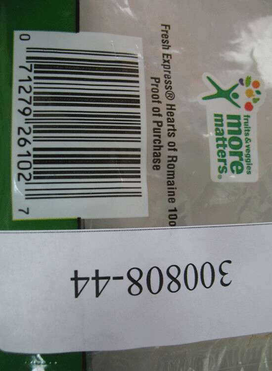 RECALLED – Hearts of Romaine Salad | August 26, 2012 – Produ