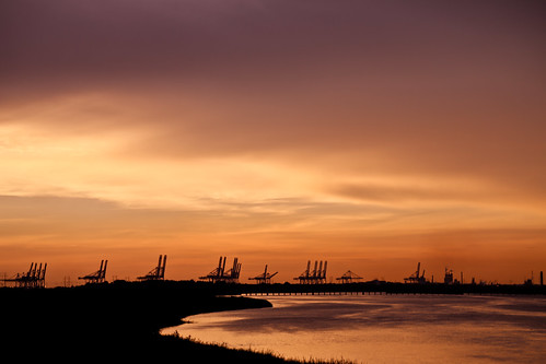 georgia silhouettes cranes blackriver ripples savannah southbound shipyards hutchinsonisland portofsavannah
