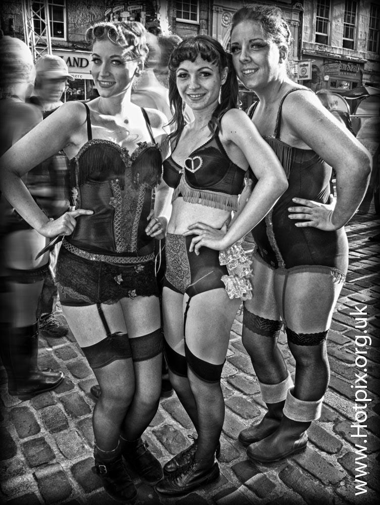 fringe,Edinburgh,2012,2012fringe,fringe2012,city,Scotland,festival,festival2012,b/w,black,white,mono,busker,street,shot,tonysmith,hotpix,UK,girls,women,woman,together,suspenders,bra,sexy,knickers,bare,flesh,blond,travel,tourist,scots,scottish,tart,tarty,sex,erotic,cabaret,street scene,street performer,HDR,mono HDR,bandw,extreme,scotia,ecosse,tattoo,august,scenes,capital