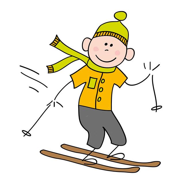 Boy on ski's