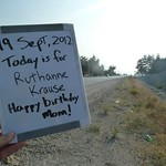 Today is for RuthAnne Krause - Happy birthday Mom