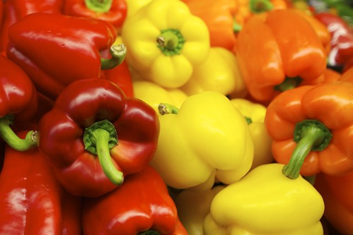 Red, Yellow and Orange Bell Peppers | by Au Kirk