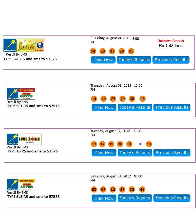 result-page | Playwin launches Jaldi5 Lotto with a jackpot a… | Flickr