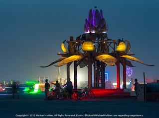 The Bottlecap Gazebo, Burning Man 2012 | by Michael Holden
