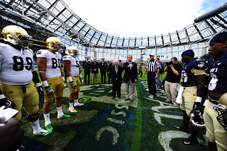 Ireland VIP's take part in the opening coin toss. | by Official U.S. Navy Imagery
