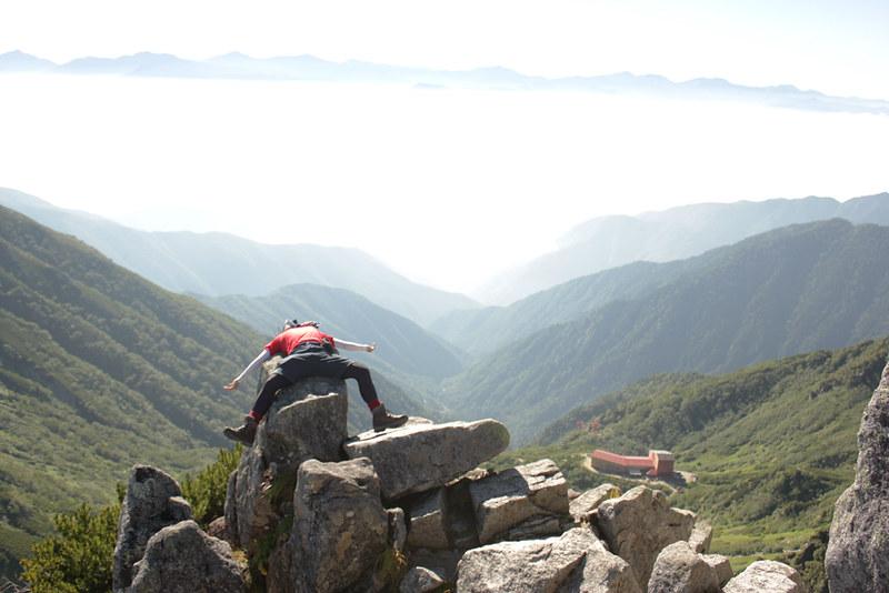 夏の宝剣岳