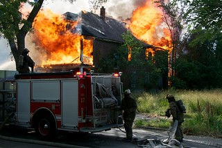 Detroit house fire | by Sam Beebe