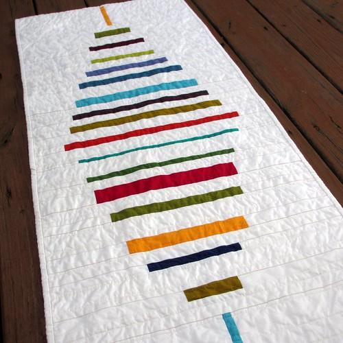 modern stripes kaffefassett tablerunner shotcotton