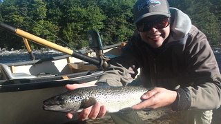 Matt's first West Branch Salmon | by Maine River Guides