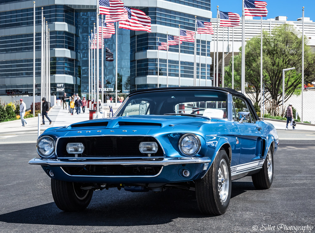 1968 Shelby Mustang Cobra GT500KR welcoming visitors
